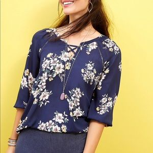 NWT 🔥 Maurices Floral Print Tunic Blouse